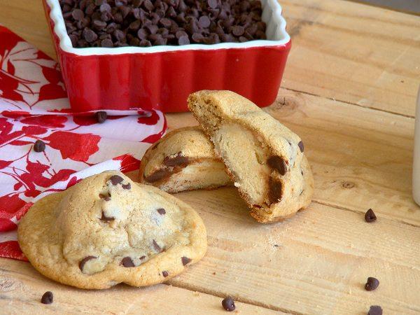 donut stuffed chocolate chip cookie