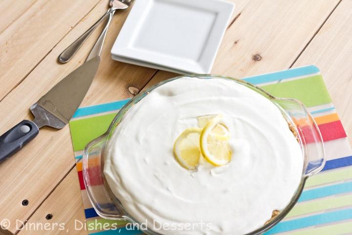 lemonade pie in a pan