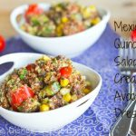 Mexican Quinoa Salad with Creamy Avocado Dressing #SundaySupper