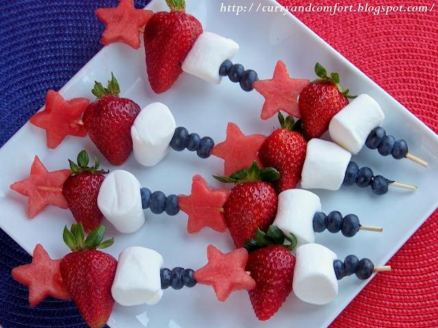 patriotic fruit skewers