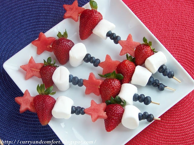Patriotic Fruit Skewers