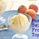Vanilla Peach Swirl Frozen Yogurt #SundaySupper