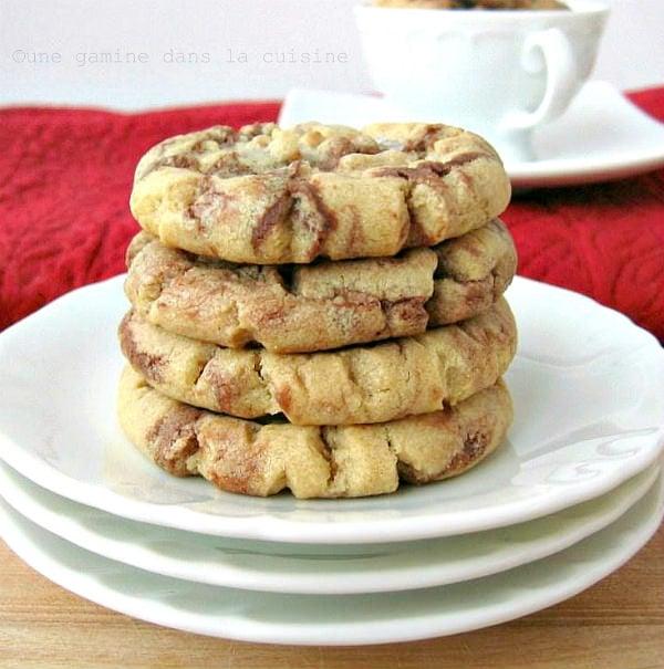 pb nutella swirl cookies