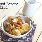 Roasted potato salad - labeled
