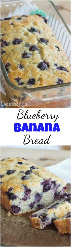 Blueberry Banana Bread collage