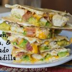 Chicken Bacon Avocado Quesadillas #SundaySupper