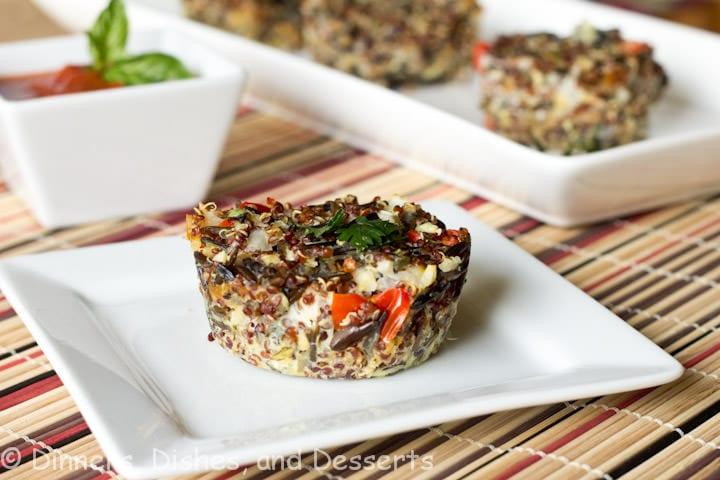 quinoa bites on a plate