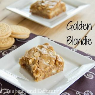 Golden Oreo Blondie Bars