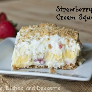 Strawberry Cream Squares #SundaySupper