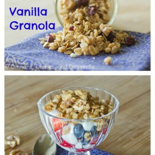 Vanilla Granola {Dinners, Dishes, and Desserts}