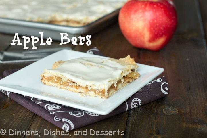 apple bars on a plate