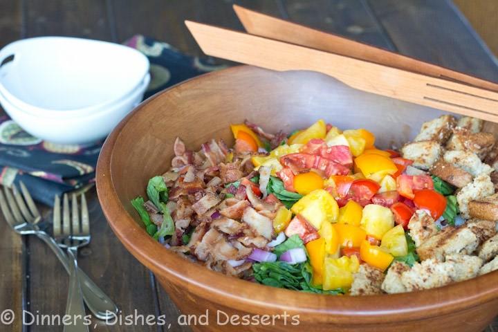 blt salad in a bowl