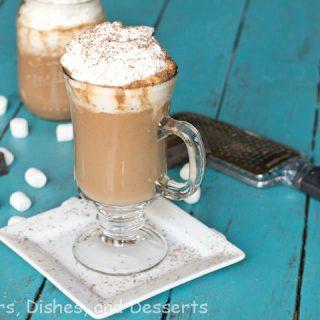 pumpkin hot chocolate in a mug