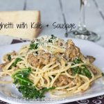 Spaghetti with Kale & Sausage #SundaySupper