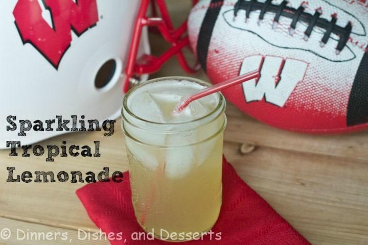 tropical lemonade in a cup