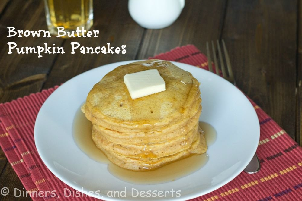 brown butter pancakes on a plate