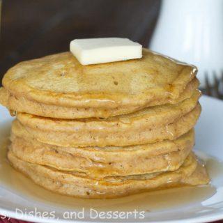 Brown Butter Pumpkin Pancakes