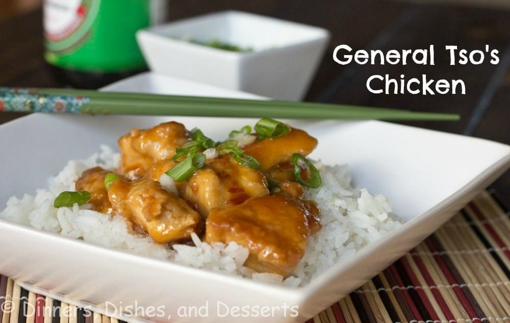 General Tso's Chicken labeled
