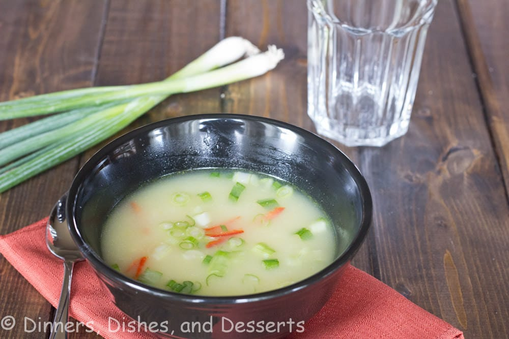 ginger chicken soup in a bowl