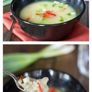 Ginger Chicken Soup - warm up with a comforting bowl of soup!