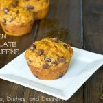 Pumpkin Chocolate Chip Muffins #SundaySupper
