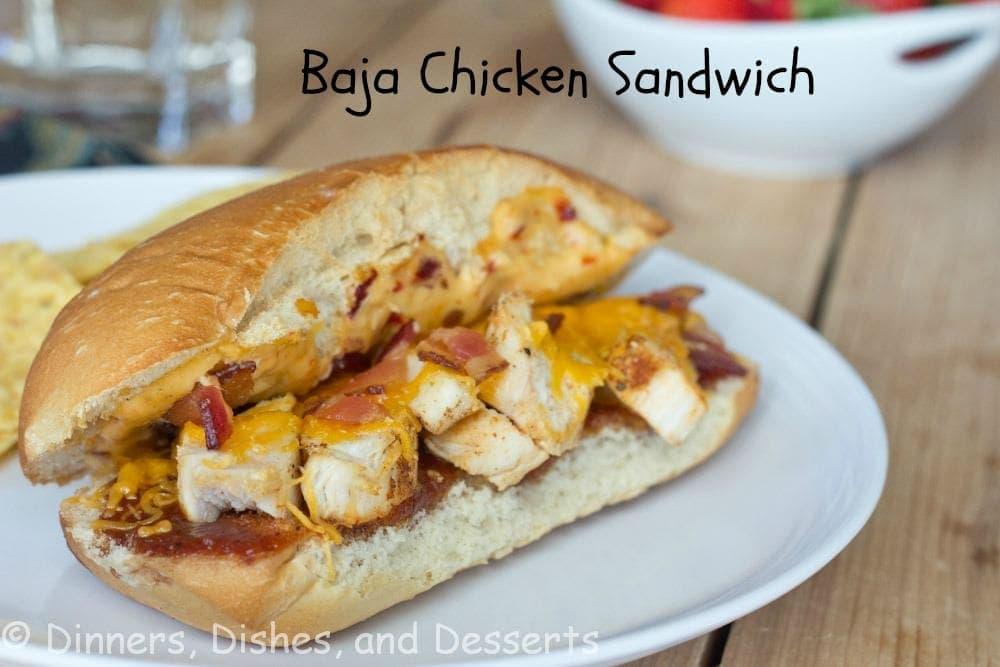 baja chicken sandwich on a plate