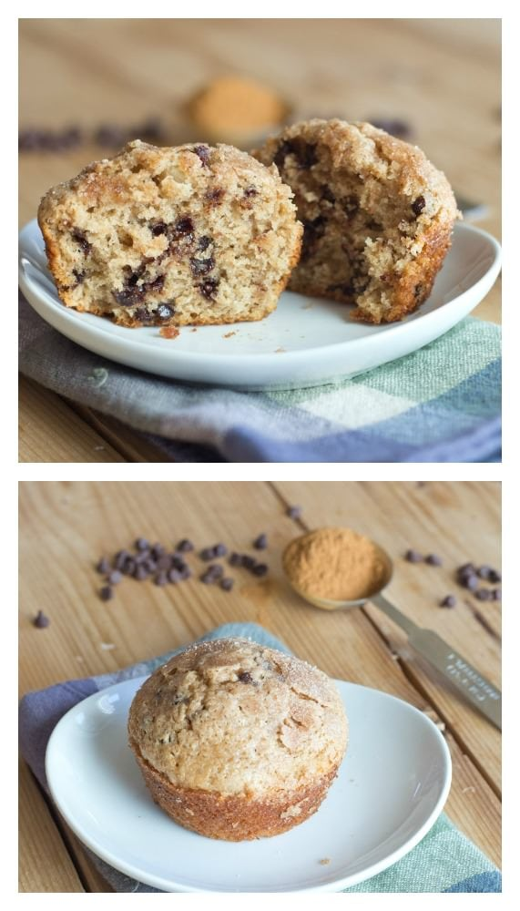Cinnamon Chocolate Chip Muffins - a great way to start your day! (plus they freeze well too)