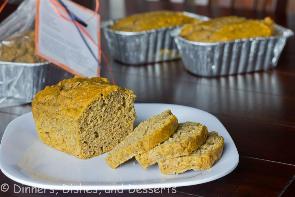 pumpkin biscoff bread on a plate