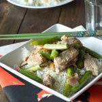Quick and easy Saucy Stir Fry Pork. Add your favorite veggies and have the dinner on the table in minutes!