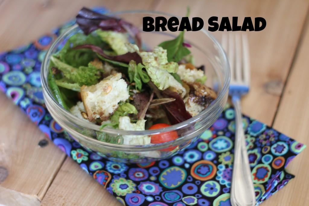 bread salad in a bowl