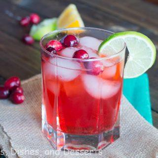 cranberry fizz in a cup