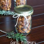 Garlic Rosemary Scented Almonds labeled
