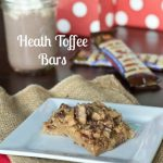 Heath Toffee Bars | @dinnersdishesdessert