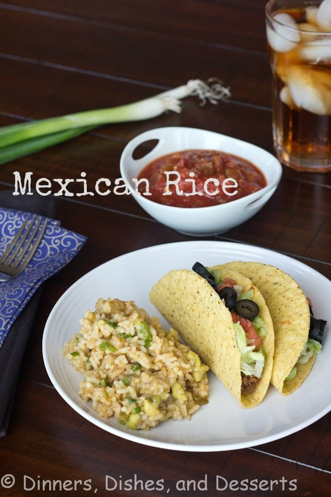 Mexican Rice - A Mexican style rice, that happens to be good for you. It is full of scallions and chunks of avocado.