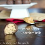 Peanut Butter Chocolate Balls labeled