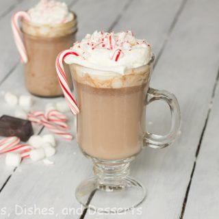 Peppermint Hot Chocolate #ChristmasWeek