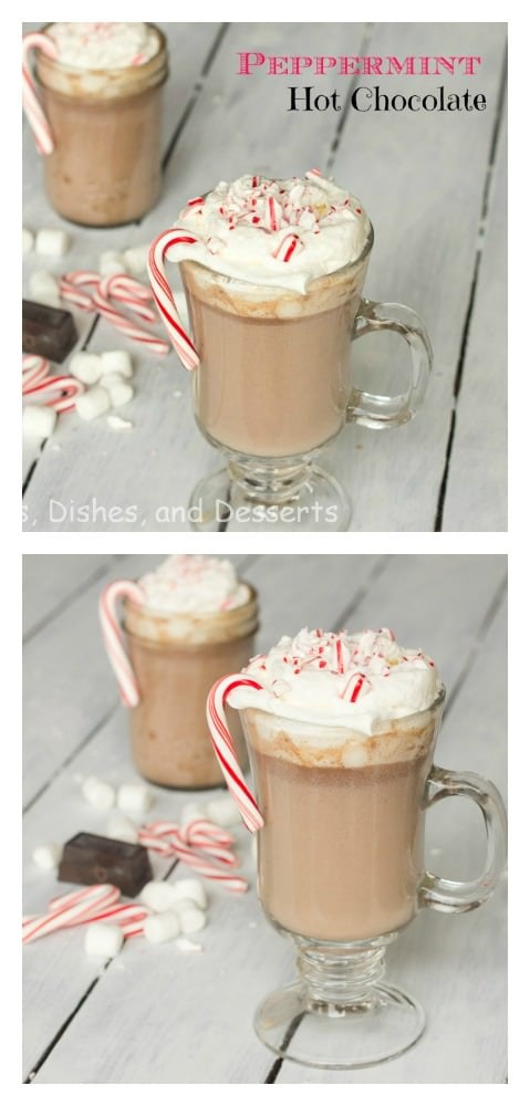 Peppermint Hot Chocolate - perfect way to warm up on a cool day!