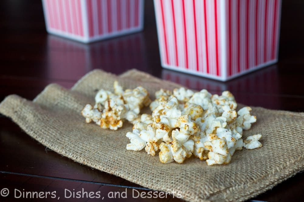 spicy popcorn in a bowl