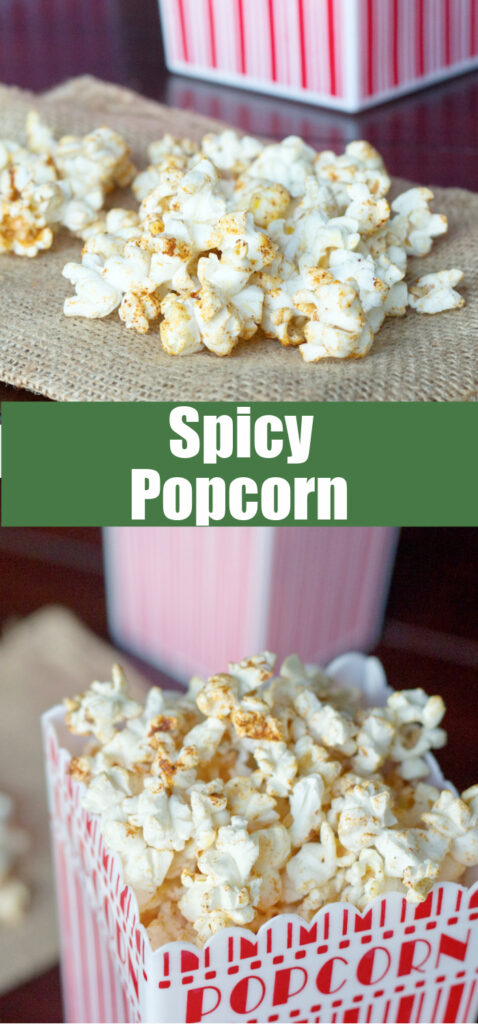close up of popcorn in container