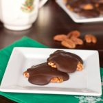 Turtles - a homemade candy of pecans and gooey caramel topped with chocolate!