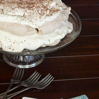 Chocolate Meringue Cake (gluten free)  #SundaySupper