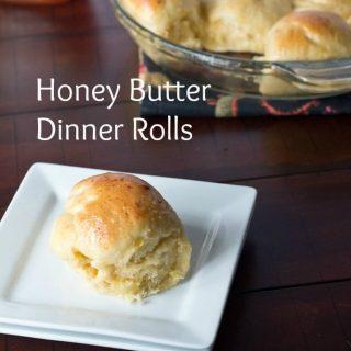 Honey Butter Dinner Rolls #SundaySupper