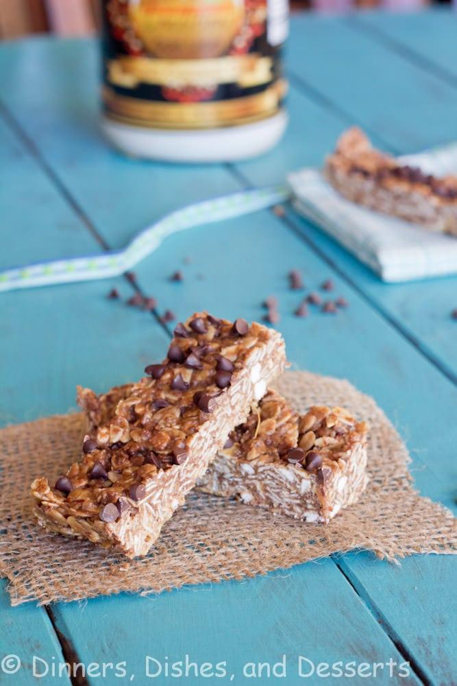 Chocolate Peanut Butter Granola Bars #chocolateparty