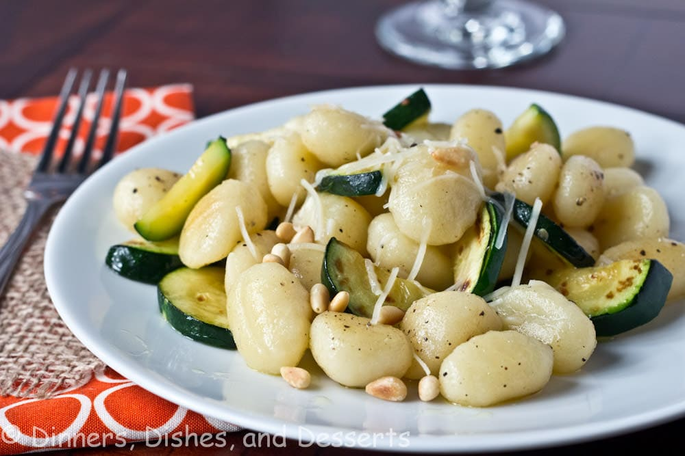 Brown Butter Gnocchi with Veggies & Pinenuts