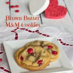 Brown Butter M&M Cookies #SundaySupper