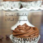 Dark Chocolate Mint Cupcakes #DarkPinspirations
