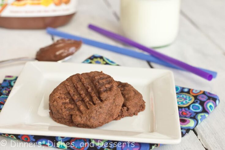 nutella cookies on a plate