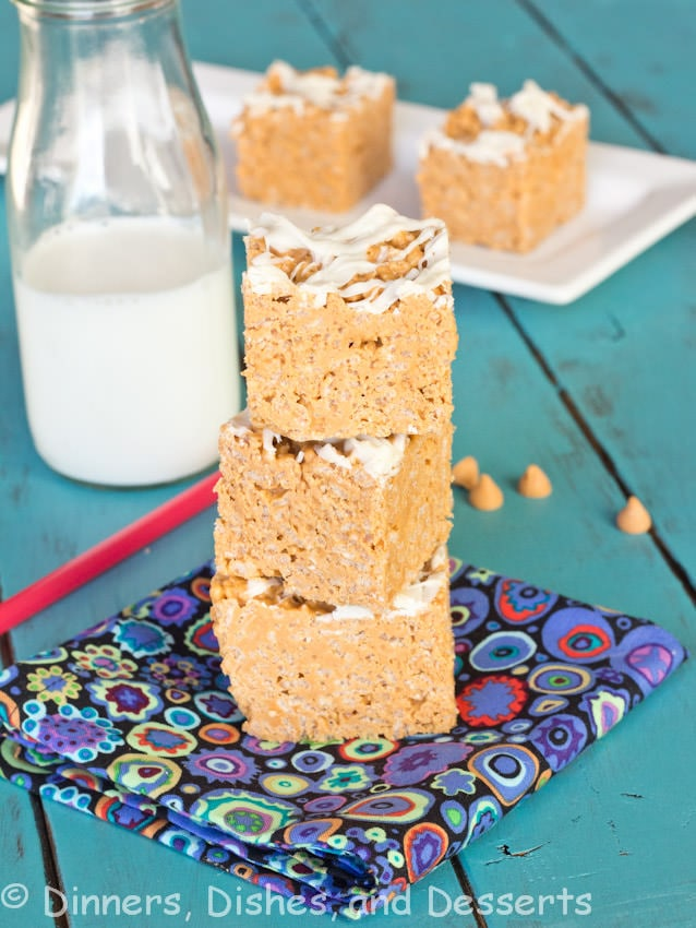 Peanut Butter Butterscotch Krispie Treats
