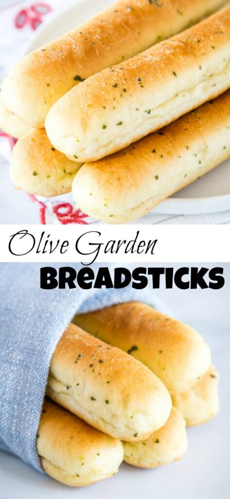 A close up of breadsticks