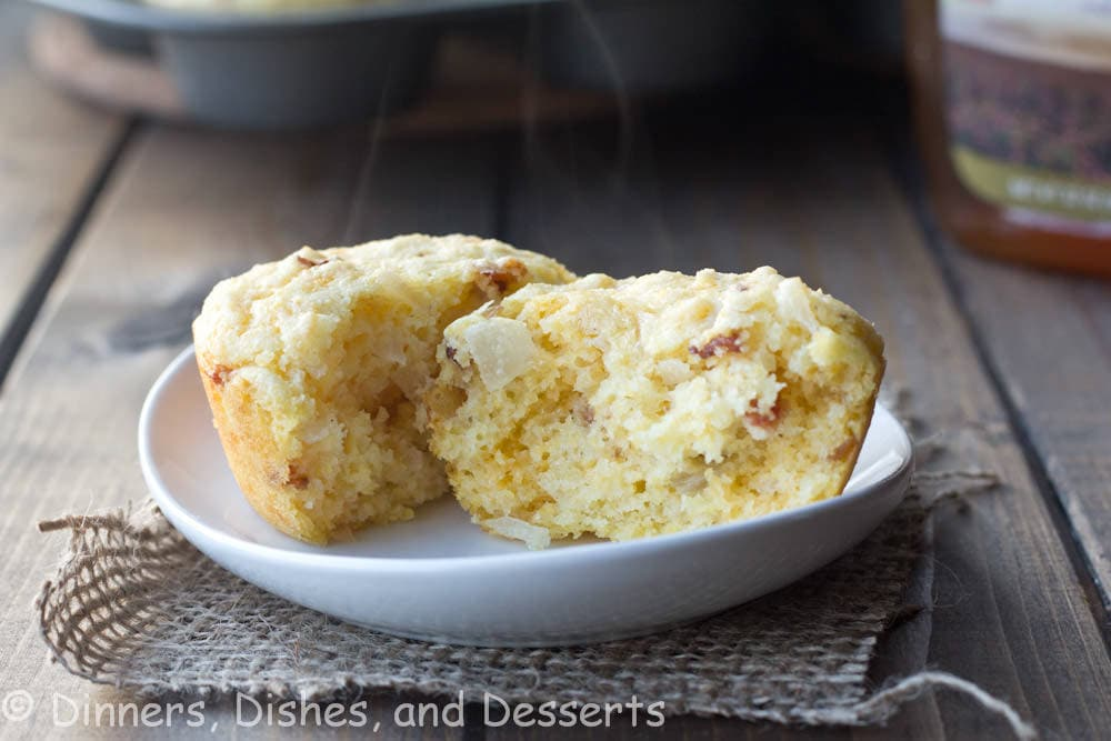 Bacon, Onion, and Cheddar Corn Muffins